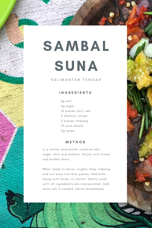 sambal suna recipe card